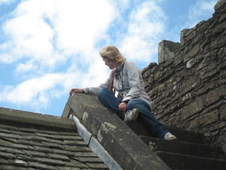 On top of the Doune Castle roof!
